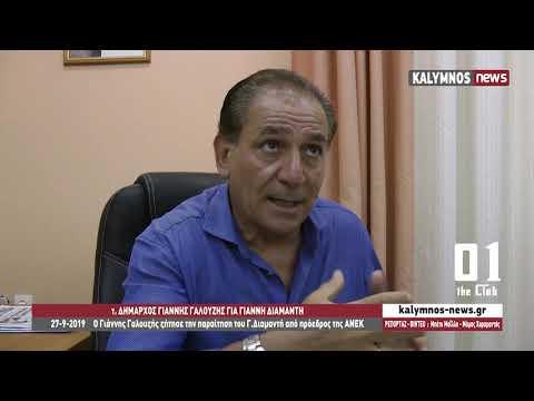 27-9-2019 Ο Γιάννης Γαλουζής ζήτησε την παραίτηση του Γ.Διαμαντή από πρόεδρος της ΑΝΕΚ