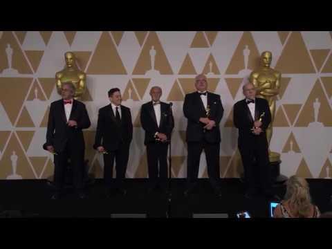 Richard King,  Gregg Landaker, Gary A. Rizzo Oscars Backstage  2018