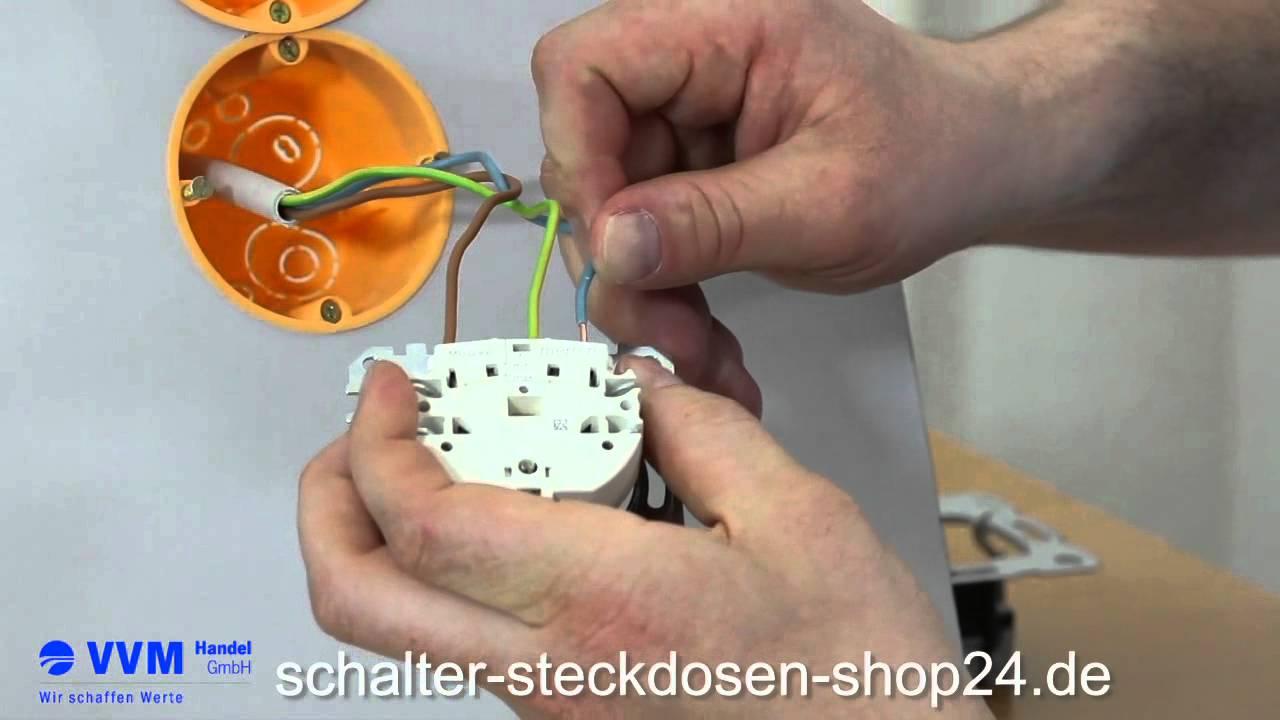 Steckdose wechseln - Steckdose anschließen leichtgemacht - YouTube