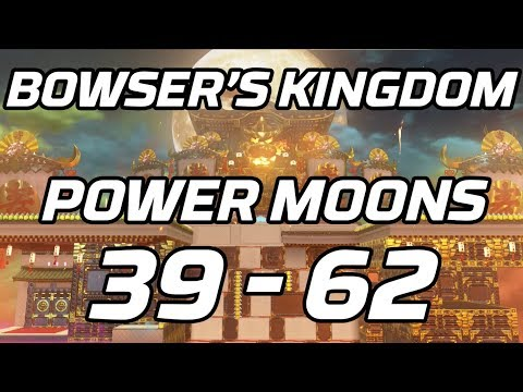 [Super Mario Odyssey] Bowser Kingdom Post Game Power Moons 39 - 62 Guide