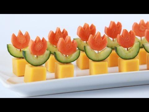 SUPER MARIO FIRE FLOWER APPETIZERS - NERDY NUMMIES