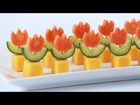 Get SUPER MARIO FIRE FLOWER APPETIZERS - NERDY NUMMIES Images