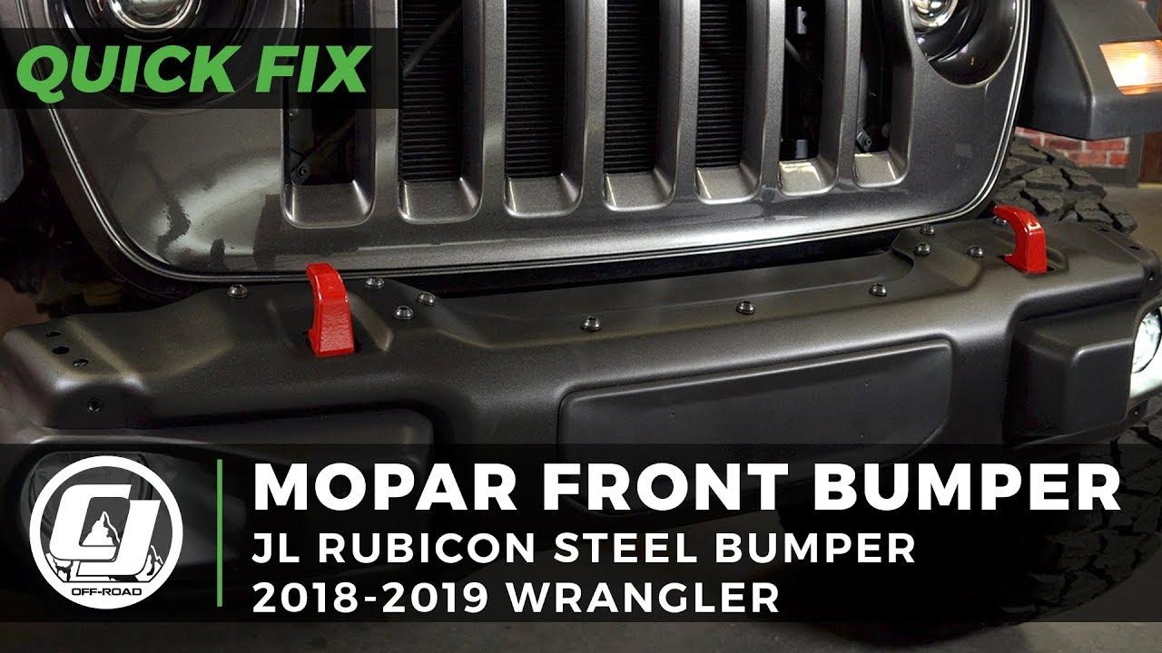 Mopar Steel Rubicon Stubby Front Bumper For 2018 2019 Jeep Jl Wranglers