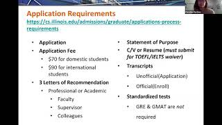 University of Illinois Master of Computer Science and Data Science Admissions Webinar