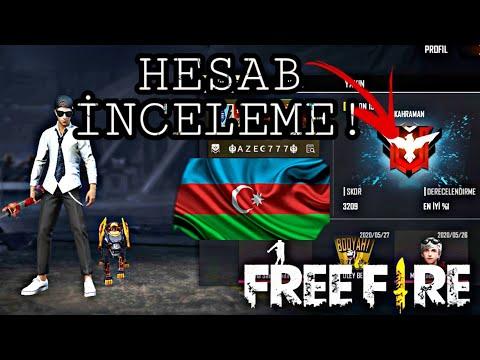 HESAB İNCELEME VİDEOSU!! #2 - FREE FİRE AZE!