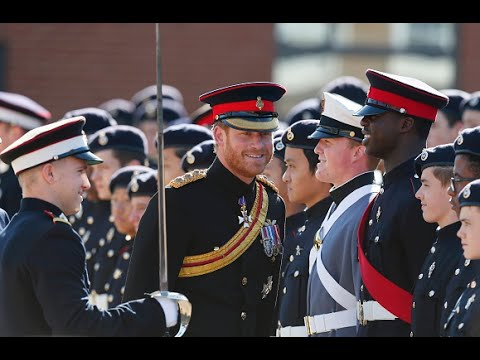 Prince Harry at The Duke of York's Royal Military School ...