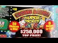 $50 Casino Action Texas Lottery Scratch Off Ticket