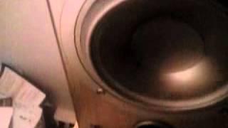 Tannoy speaker in slow motion, 10 Hz