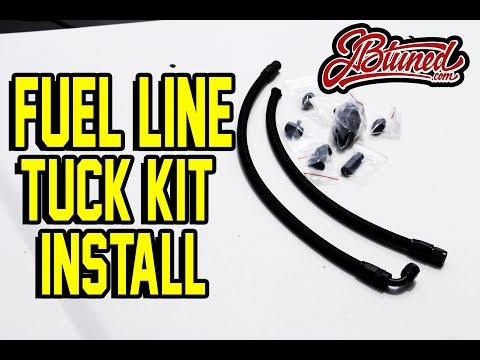 INSTALLING JBTUNED'S FUEL LINE TUCK KIT