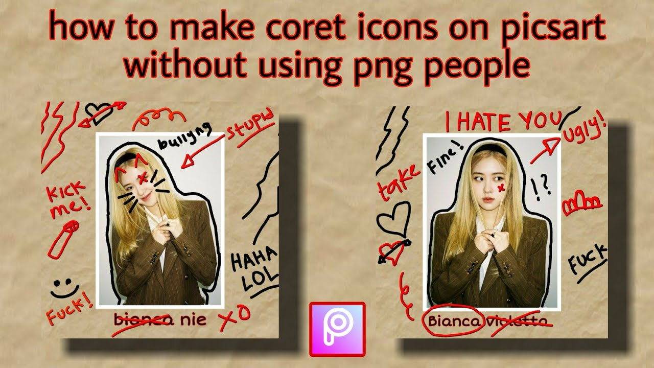 Download how to make coret icons on piscart
