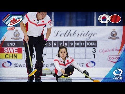 Korea v China - Round-robin - World Mixed Doubles Curling Championship 2017