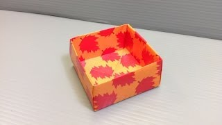 Autumn Leaf Origami Pattern Paper - Print Your Own Paper!