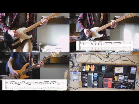 Jack White - Lazaretto guitar and bass cover with tabs, solo and effects