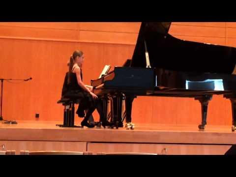 Carmen Pennanen plays Mozart's Piano Concerto G Major, 1st movement