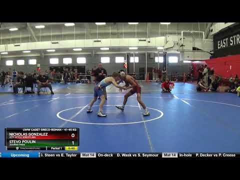 UWW Cadet Greco-Roman 41-45 KG Nicholas Gonzalez Izzy Style Wrestling Vs Stevo Poulin Journeymen