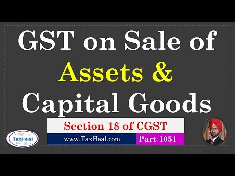 GST On Sale Of Assets And Capital Goods