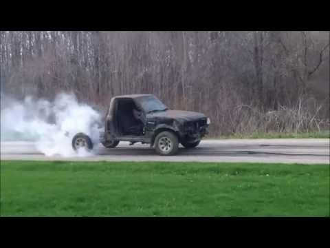 Ford Ranger Does A Massive Burnout.