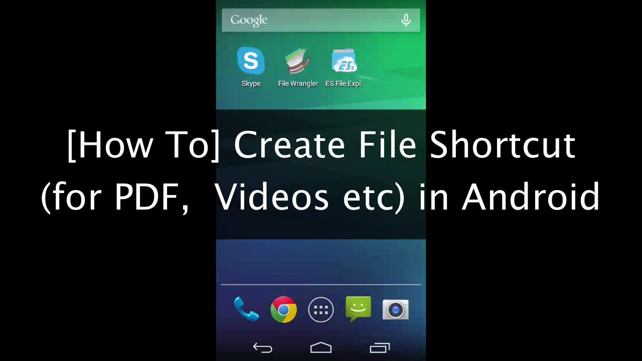 Phone Shortcut For Android Phone solved create shortcut for pdf videos to home screendesktop in android