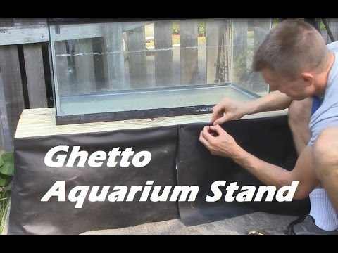 HOW TO Build A Ghetto Aquarium Stand, Building A Fish Tank Stand