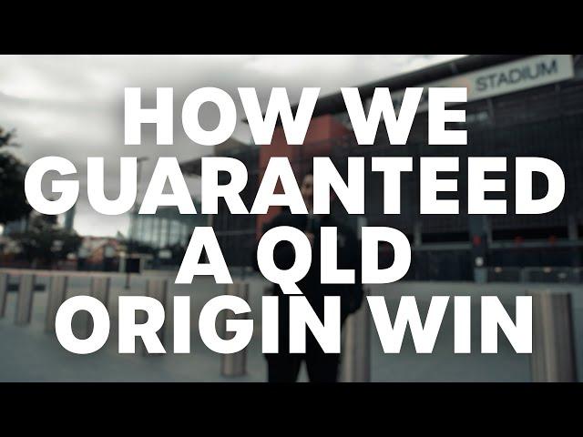 How We Guaranteed A QLD Origin Win   B105