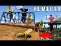 Kids Muddy Obstacle Course Challenge