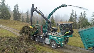 JENZ Chippertruck HEM 593 R Cobra bei Lener Hackgut in Tirol
