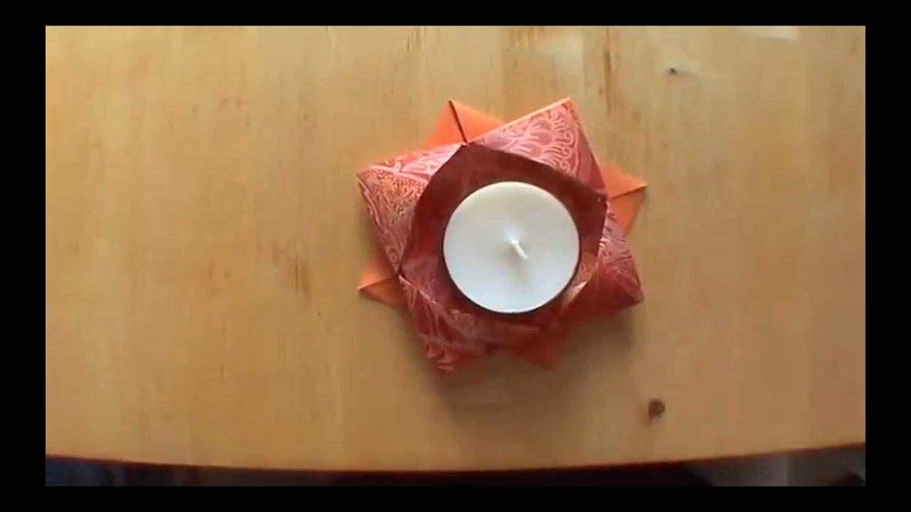 How To Make an Origami Candle Holder - Falte Dir Deinen ... - photo#35
