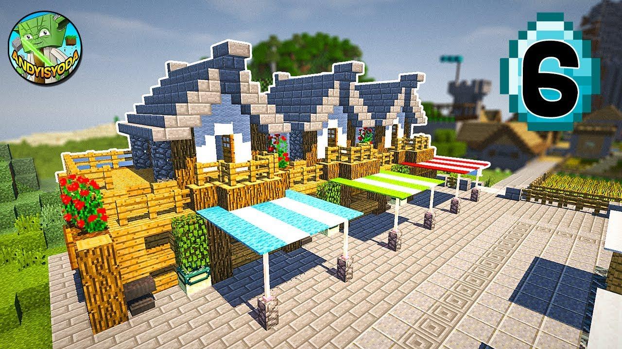 Transform a Minecraft Village into a Town E12 - Market + Walls