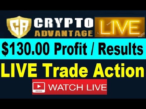 Crypto Advantage LIVE TRADING ACTION! New RESULTS ($130 Profit Review)