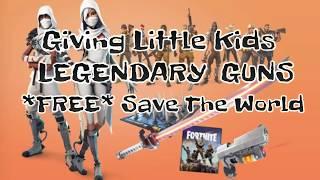 FORTNITE:Dando *FREE Founders DRUM ROLLS* (Funny Little Kids)