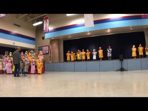 Theiss Elementary School | Kindergarten Farm Musical Program 2017 | Song 6