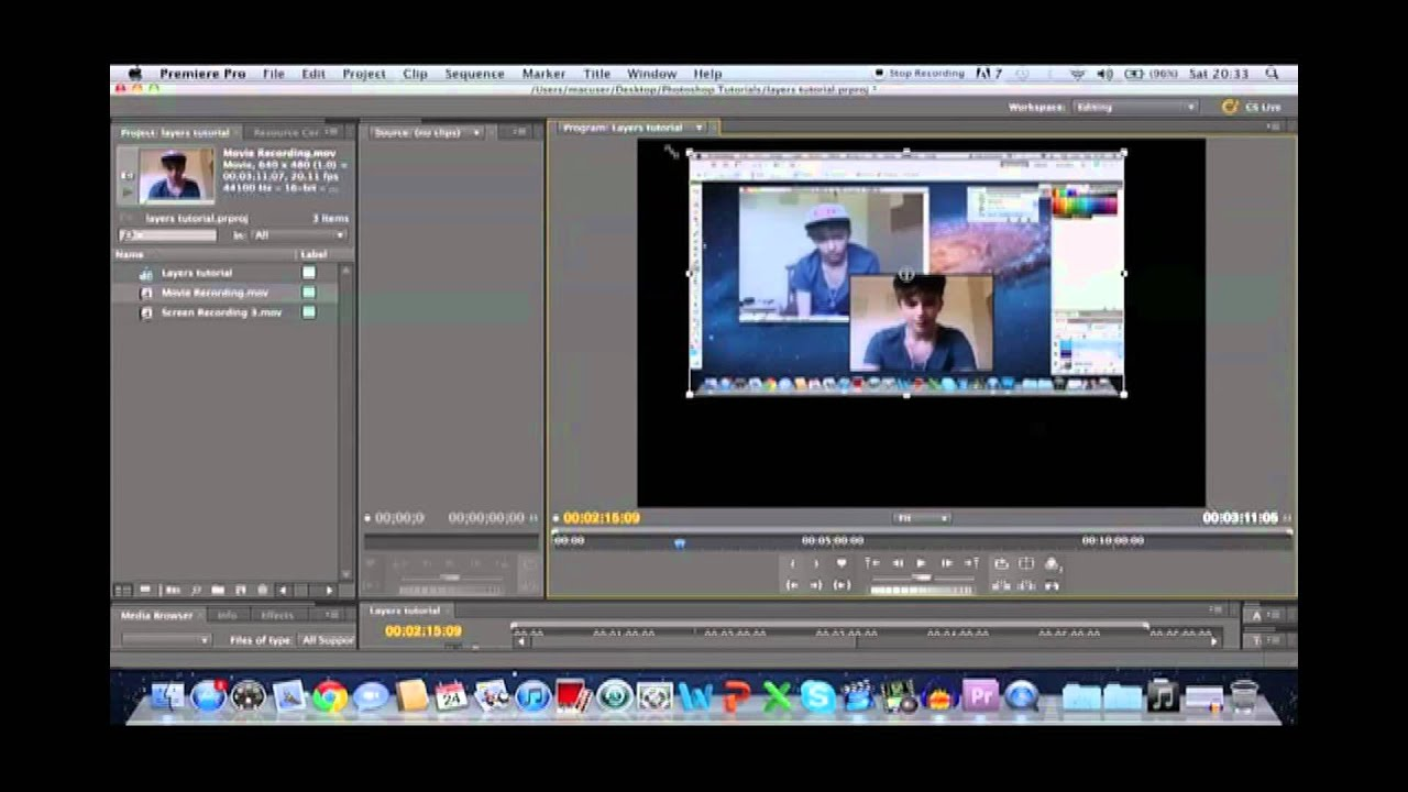 adobe premiere pro cs5 multiple videos in one frame