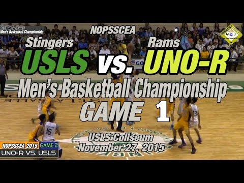 USLS vs UNO-R Game 1 of 3, Basketball Championship