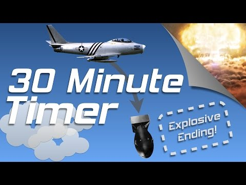30 min exploding countdown timer with Jet Plane