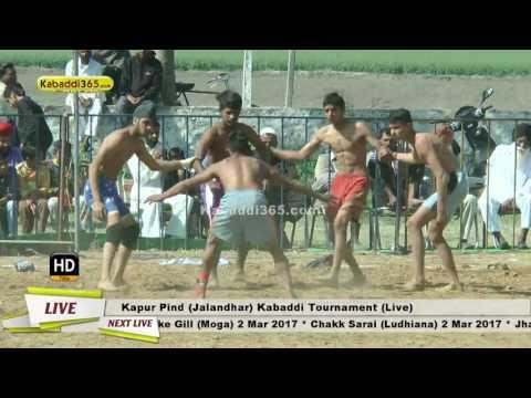 Kapur Pind (Jalandhar) Kabaddi Tournament 24 Feb...
