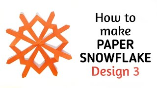 How to make simple & easy paper snowflake - 4 | Kirigami / Paper Cutting Craft Videos & Tutorials.