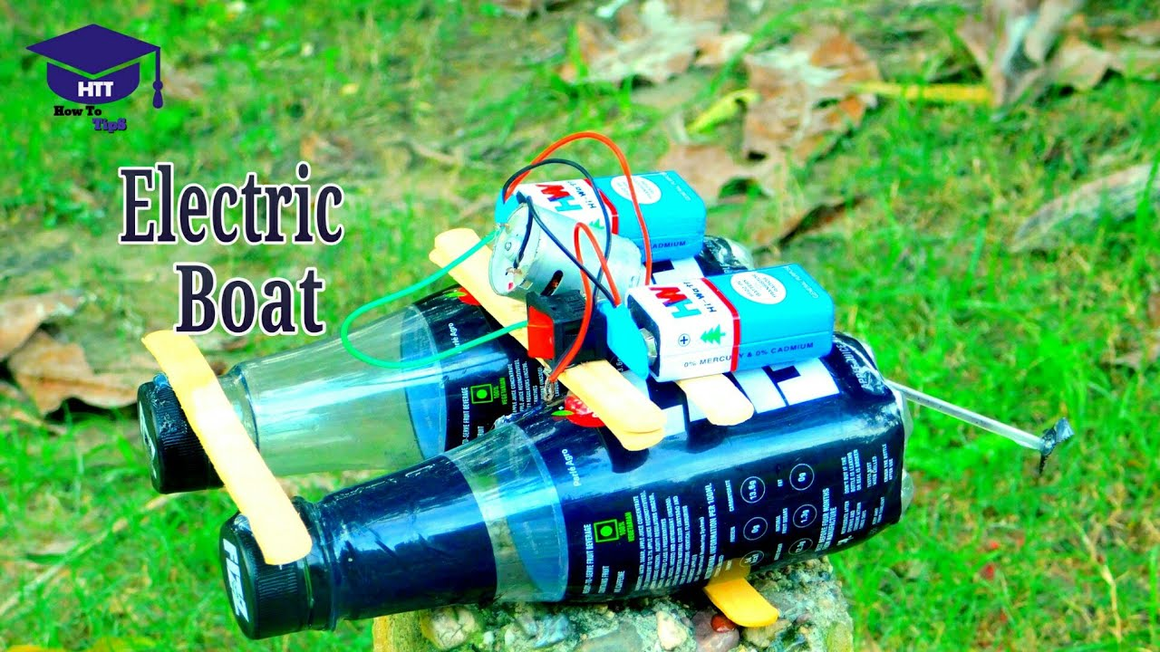 How To Make A Electric Boat At Home With Plastic Bottle