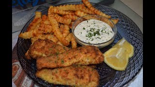 MsSprinkles Delights Ep 32 Airfryer Salmon (Fish) Sticks with Fries and Tartar sauce