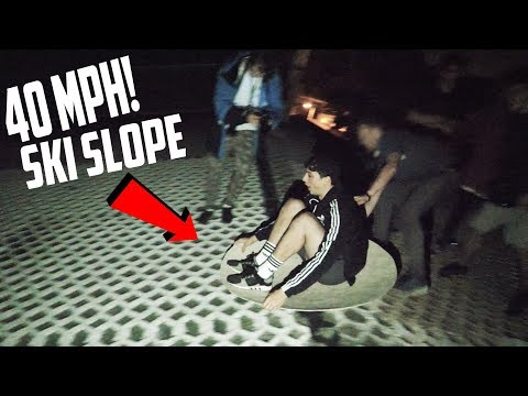*40MPH* SPENDING THE NIGHT ON A SKI SLOPE!