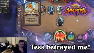 TESS IS A BACKSTABBER! Rise of Shadows Rogue Gameplay [Hearthstone]