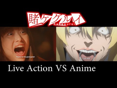 Kakegurui Live Action Comparison