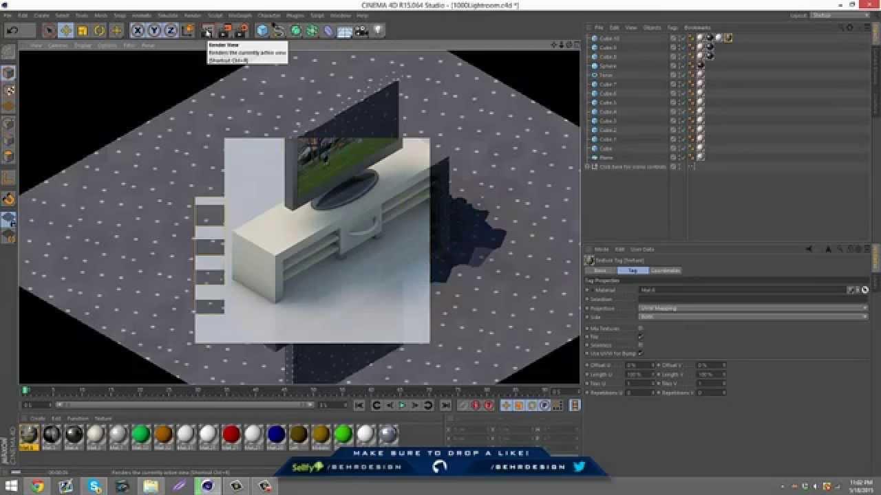 Tutorial Isometric Tv Desk Behr Youtube