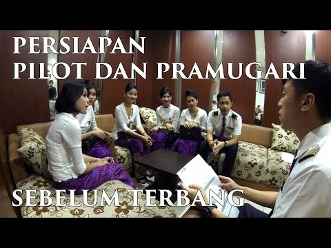 PRE FLIGHT CREW BRIEFING Ind - Persiapan sebelum terbang - by Vincent Raditya ( BATIK AIR )