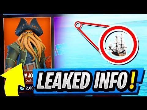Season 5 TIER 100 Skin LEAKED! | Secret Pirate Ship FOUND! ( Fortnite The Flying Dutchman )