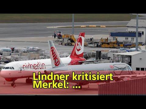 Lindner kritisiert Merkel: Air-Berlin-Kredit sorgt für Streit - n-tv.de