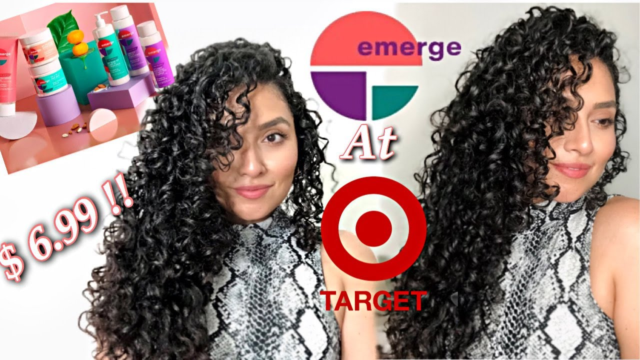 New Emerge Hair Care Products For Curly Hair From Target First Impression Marianellyy Youtube