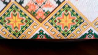Мой процесс вышивки рушника