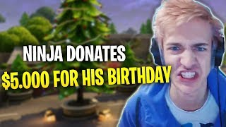 Ninja Donates to TSM Hamlinz - Fortnite Battle Royale WTF & Funny Moments Episode. 154