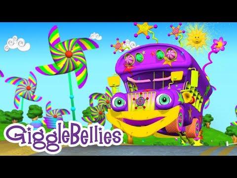 Wheels On The Bus HD | Nursery Rhyme | GiggleBellies