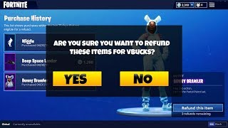HOW TO REFUND SKINS FOR VBUCKS *AFTER PATCH* - Fortnite Battle Royale Refund System RETURNED Update